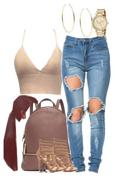 """""""plain"""" by simoneswagg ❤ liked on Polyvore featuring MICHAEL Michael Kors and Michael Kors"""