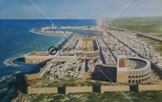 A New Reconstruction of Caeasarea, Israel, 1st century AD @ Bible Illustrations, Biblical Sermon Illustrations, Christian Pictures