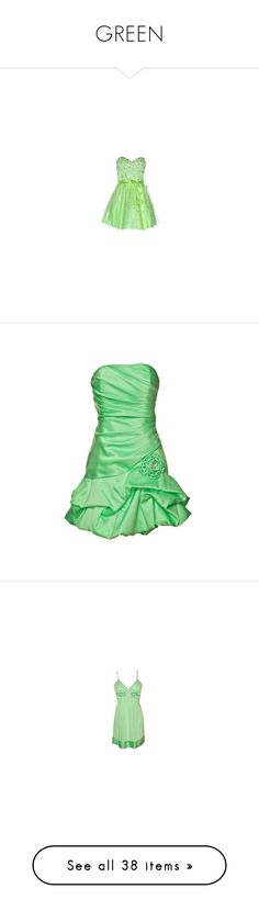 """""""GREEN"""" by fashionqueen866 ❤ liked on Polyvore featuring dresses, green, vestidos, paillette dress, green dress, green cocktail dress, vestiti, gathered dress, green ruched dress and shirring dress"""