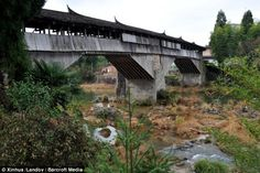 Still standing: The Qiancheng Bridge, in the village of Tangkou, which was built during the Southern Song Dynasty, which began in 1127