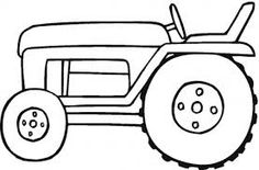 Image result for tractor colouring picture