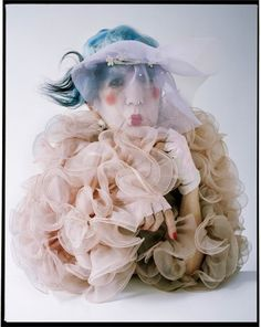 """The Originals"": Fashion Eccentrics by Tim Walker for W Magazine November 2012 - Anna Piaggi"