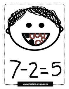 Ha!  This cracks me up!  What a great anatomy AND math lesson :-D Loose Tooth Subtraction Activity.