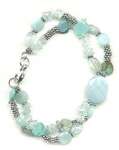 Aquamarine and Amazonite Bracelet