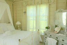 It's interior decorating time! Pretty white bedroom