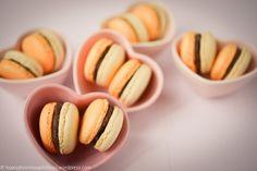 Cola macarons in cute little Le Creuset bowls