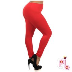 OG0 50% OFF |Host PickRed Fleece Leggings Red Plus Size fleece leggings. New with tags. Fits large to 1 extra largeHost Pick 2/12/16 @jenangel89 Pants Leggings