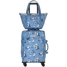 Island Bunch Small Travel Handbag ($63) ❤ liked on Polyvore featuring bags, handbags, blue handbags, travel handbags, man bag, blue hand bag and travel bag