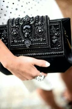 Beautiful detail on the black clutch.