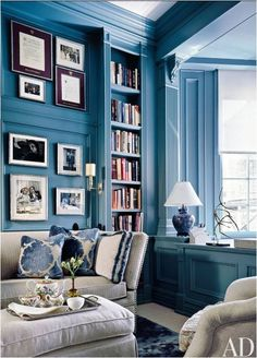 Amazing in blue! Living room from Centsational Girl.