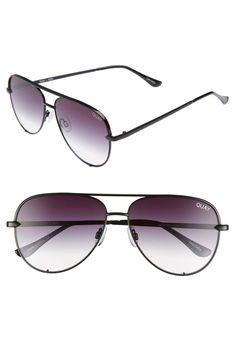 6e6be7f465 Quay Australia x Desi Perkins High Key Mini 57mm Aviator Sunglasses