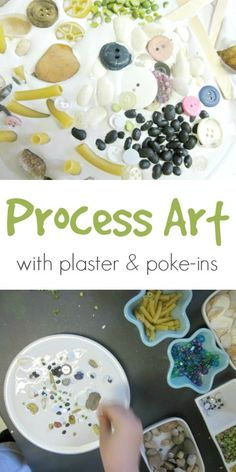 Plaster of Paris Process Art for Toddlers and Preschoolers