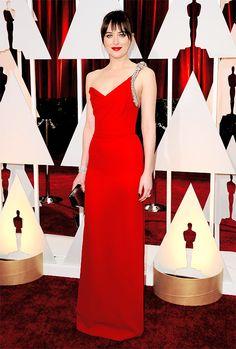 Fifty Shades Of Grey-  Dakota Red carpet Oscars