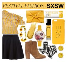 """Festival Fashion ~ SXSW"" by angelinapurplerose ❤ liked on Polyvore featuring River Island, Chanel, Ted Baker, Ulla Johnson, Primitives By Kathy, Laurence Dacade and Clinique"