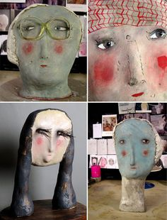 the ceramic heads of Claire Loder