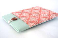 iPad Air Case, iPad Sleeve Air iPad Hülle mit Tasche und Padded für alle iPad - Coral-Damast