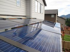 Silicon Energy Cascade Series solar PV awning installed by Puget Sound Solar.