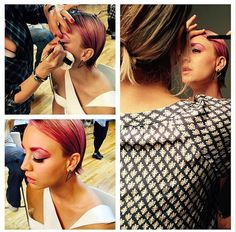 Kaley Cuoco dyes eyebrows pink to match new pink hair!   Hair & Beauty   heatworld