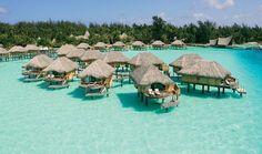 Bora Bora Pearl Beach Resort & Spa - Beautiful clear blue water surrounding each room