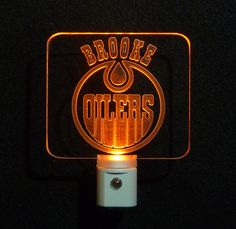 Personalized #EdmontonOilers Custom LED Night with name http://www.uniqueledproducts.com/store/c14/Sports_Night_Lights.html