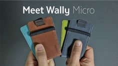 Wally Micro - The Minimal Wallet with a Few Surprises by Distil Union — Kickstarter
