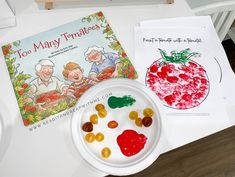 Too Many Tomatoes tomato craft for kids #bookishplay #usbornebooks #usbornebooksandmore