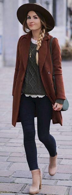 40 typical boho winter outfits youve been waiting for - BOHO STYLE WINTER☀☀☀ - Boho Outfits Style typical waiting Knit Sweater Outfit, Winter Sweater Outfits, Casual Winter Outfits, Dress Winter, Casual Fall, Winter Dresses, Outfit Winter, Sweatshirt Outfit, Spring Outfits