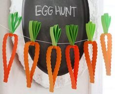 Easy Paper Carrot Garland For Kids In Under Ten Minutes