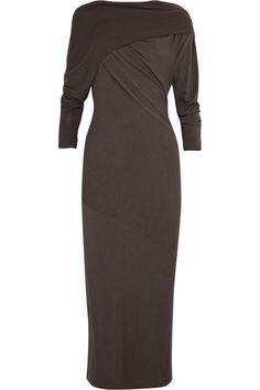 Donna Karan New YorkDraped crepe-jersey dressfront