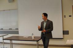 Dr. Eng giving a talk to SF students about Chiropractic.