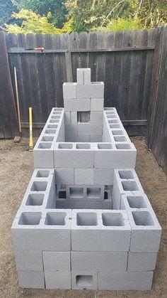 Cinder Block (CMU) Offset Smoker: 12 Steps (with Pictures) Build A Smoker, Bbq Pit Smoker, Diy Smoker, Fire Pit Grill, Homemade Smoker Plans, Barrel Smoker, Fire Pits, Backyard Smokers, Outdoor Smoker