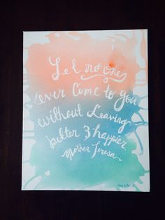 DIY watercolor canvas quote. Tutorial coming soon on Abbycontrery on YouTube