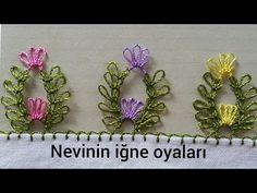 Needle Tatting, Needle Lace, Bobbin Lace Patterns, Baby Knitting Patterns, Crochet Flower Tutorial, Crochet Flowers, Crochet Borders, Filet Crochet, Hairpin Lace