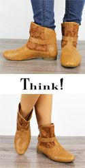 GUA 44 GUAD Think Damen Sommer Bootie caramel 82295-54