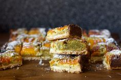 apricot pistachio squares by smitten, via Flickr