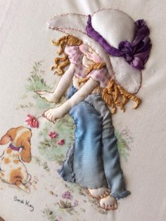 stumpwork MUST be resurrected Silk Ribbon Embroidery, Embroidery Applique, Embroidery Stitches, Embroidery Patterns, Ribbon Art, Applique Quilts, Sewing Crafts, Needlework, Cross Stitch