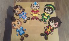 Avatar TLA The Gaang perler beads by RavenTezea on deviantart - Picture these guys but knitted
