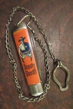 ANTIQUE IKCO USA IMPERIAL DEPUTY SHERIFF DECO JACK CHAIN TOOL VTG POCKET KNIFE