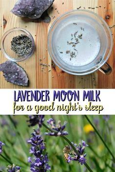 Lavender Moon Milk relaxing nighttime beverage with lavender Lavender Moon Milk. Get a good night's sleep with this recipe that includes steamed milk infused with lavender buds and earl grey tea Lavender Drink, Edible Lavender, Lavender Recipes, Lavender Buds, Smoothie Drinks, Smoothies, Detox Drinks, Yummy Drinks, Healthy Drinks