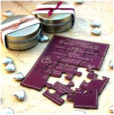 wedding invitation - puzzle