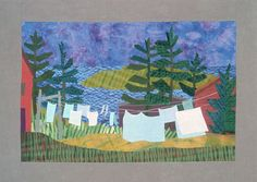 Trailing Yew Evening Wash Framed Quilt