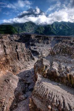 Mount Merapi in Yogyakarta, Indonesia