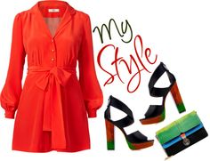 """""""Rainbow Bright - Shaking Up My Spring Wardrobe With Color"""" by latoyacl ❤ liked on Polyvore"""