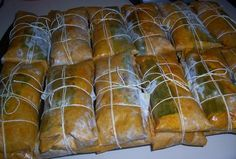 Pasteles - Puerto Rico food, LOVE THIS TO, WISH I COULD FIND SOMEONE THAT COULD MAKE THIS FOR ME