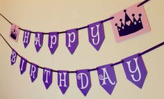 Princess Birthday Banner by IKnowAGuyDesigns on Etsy