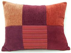 Patchwork Berry Merlot Spice Blackberry Velvet Decorative Designer Throw Pillow | eBay
