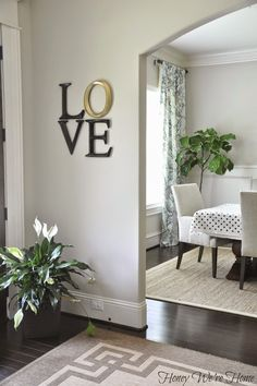 "I have these exact L.O.V.E. letters in my bedroom! Mine are all gold like the ""O"" but I could paint them like she's done here for a different look."