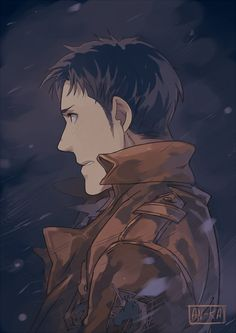 Attack on Titan ~~ If only he had survived long enough to wear that emblem. Unfortunately, he died bearing the trainee's patch instead. :: Marco Bodt by http://kaa-05n2.tumblr.com/post/91870732754