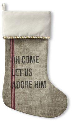 Wayfair Oh Come Let Us Adore Him Christmas Stockin…#affiliate