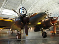 Irving J1N1-S Gekko night fighter on display at the Smithsonian Air and Space Museum Udvar-Hazy Center, Chantilly, Virginia, United States, 26 Apr 2009